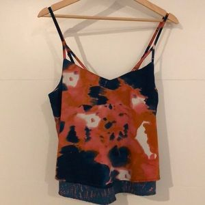 Hurley tank top silky blouse